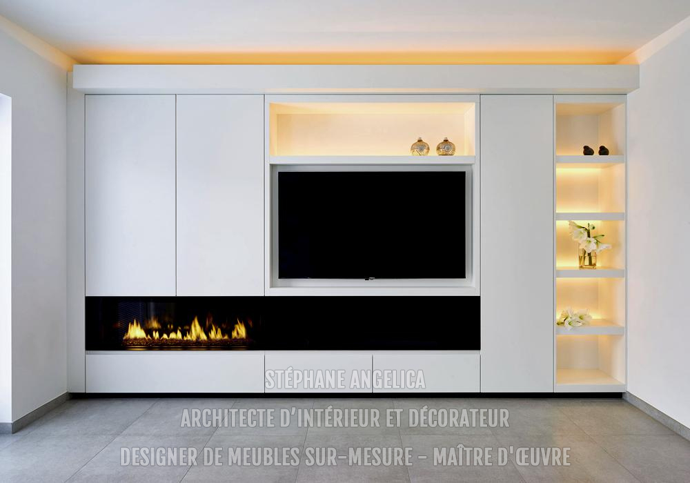 meuble tv sur mesure design pz45 jornalagora. Black Bedroom Furniture Sets. Home Design Ideas
